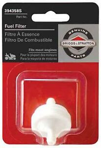 BRIGGS & STRATTON IN-LINE FUEL FILTER  (394358S) Made in USA