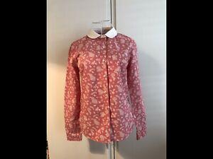 Jack Wills Size 8 Paisley Pink & Cream/white Womans Shirt