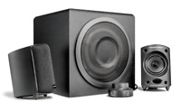 Lautsprecher Wavemaster Moody 2.1 Stereo System Subwoofer Aktiv Boxen schwarz