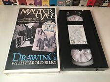 Drawing With Harold Riley VHS 1986 Artist Bio Documentary Master Class Series