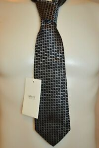 ARMANI COLLEZIONI Mans Silk Dress Tie NEW Size 3.5in Wide Retail $120 Made ITALY