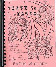 """Star Trek Tos Fanzine """"Paths of Glory #4"""", Gen. Klingon-oriented"""