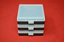 9mm / 380 Plastic Storage Ammo Boxes Clear (3 pack) Berry'S Mfg