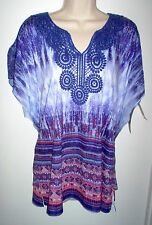 WOMENS TUNIC TOP SIZE XL JM COLLECTION MULTI COLOR NEW w/TAGS RETAIL $46