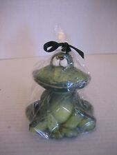 Green Sitting Frog Wax Candle Table Sitter Unscented 4 1/2in.T.x 3 1/2in.W. NWIP