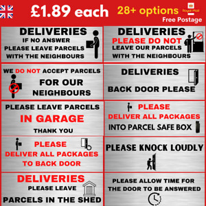 parcel delivery instructions signs self adhesive stickers for door parcel box