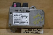 2005-2007 Ford Five Hundred Montego Air Bag Control 5G1314B321EA Module 15 5A4