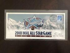 2001 NHL ALL STAR GAME Commemorative Cover Envelope Denver Colorado Avalanche