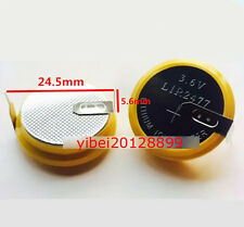1 x New Rechargeable Tabbed 3.6V LIR2477 Battery Coin Cell Button 2 Solder tabs