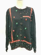 Christmas Sweater Designers Originals Studio Joy Ugly Black Christmas Sweater