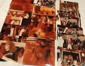 Lot of Vintage Photos of 1980s Sexy Sweaty Women's Aerobic Dance Class Snapshots