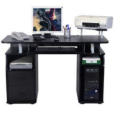 Bureau pour ordinateur PC  table avec tablette imprimante, tablette à clavier