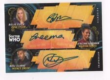 2017 Doctor Who Signature Series triple autograph Piper Agyeman Clarke 5/5