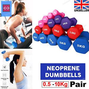 Dumbbells Weights Neoprene 1.5-10 KG Dumbells Pair For Home Gym Aerobic Exercise