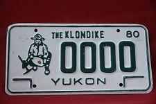 1980 YUKON  Canada License Plate License Plate * SAMPLE * The Klondike