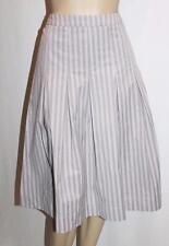 CATALYST NZ Designer Grey Striped Pleated Skirt Size 12/M  #SJ..