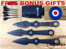 """New Competition Ninja Throwing Knives 3pc Set x 15"""" Wingman Archery Camping"""