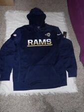 NFL LA Rams Nike Therma Fit On Field Adult Pullover Hoodie Jacket Size Lg NWT