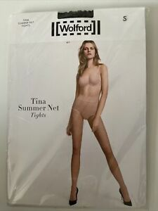 WOLFORD Black Tina Summer Net Tights Size Small