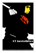 "Cuban movie Poster for""17 INVISIBLES""Japan.Ninja.Martial arts decor shop.Karate"