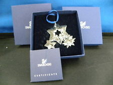 Swarovski Crystal Twinkling Stars Christmas Lge.Ornament 0863438 Retired