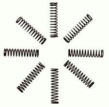 T-MAXX, TMAXX, S-MAXX, E-MAXX, Heavy Duty BLACK Progressive Rate Springs (8) Pcs