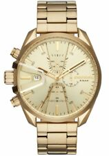 NEW Diesel MS9 Gold-Tone Sunray Dial Chronograph Mens Watch DZ4475
