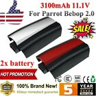 2x 3100mAh Lipo 11.1V Battery For Parrot Bebop 2.0 Drone Quadcopter + Stickers