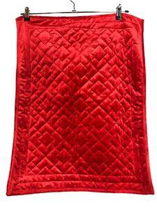 Martha Stewart Living Red Velvet Velour Quilted Pillow Sham pair