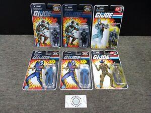 GI Joe 25th Anniversary Snake Eyes, Cobra Commander, Wraith 6 Figure Lot!!!