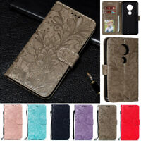 Flowers Wallet Leather Flip Case Cover For Motorola Moto G8 Power G7 Play G7Plus