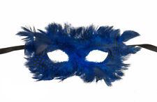 Masque de Venise Colombine à plumes  Celeste Bleu pour Bal Venitien  1023 CA2C