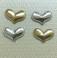 "60 pc x 1.5"" Padded Shiny Felt Heart Appliques for Valentine's/Wedding ST630X"