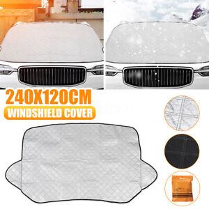 94.5'' X 47'' Car Windshield Cover Protector Winter Snow Ice Rain Dust Sun Shade