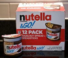 NUTELLA FERRERO & GO 12 PACK HAZELNUT SPREAD + BREADSTICKS 22 OZ