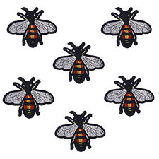 10PCS Embroidered Bee Patches Iron On Badge Fabric Bag Clothes Applique Craft
