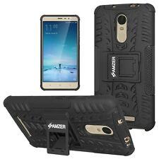 AMZER Rugged Dual Layer Hybrid Warrior Case For Xiaomi Redmi Note 3 2 Pro -Black