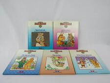 Vintage Teddy Ruxpin Books Lot of 5 Worlds of Wonder 1986 Vg Set The Airship Etc