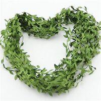 20M Artificial Vine Leaf Garland Fake Foliage Flower Wedding Home Garden Decor
