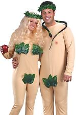 Adam and Eve Costume Adult Couples Funny Humorous Naked Fig Leaf - Fast Ship -