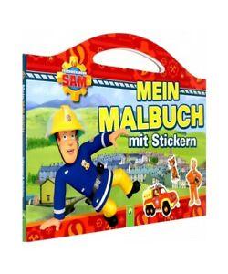 """""""Feuerwehrmann Sam Mein Malbuch mit Stickern"""""""