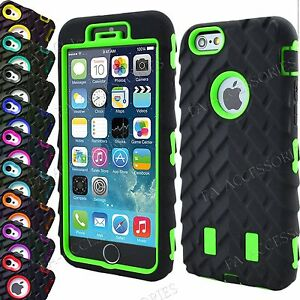 Heavy Duty Tyre Shock Proof Rugged Builder Case Cover For iPhone 8 Plus 7 6s 5SE