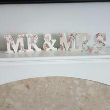 MR AND MRS  FLORAL LADY JEANNE CHIC N SHABBY WEDDING PLAQUE GIFT