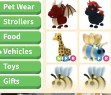 Roblox Adopt Me Giraffe Neon Fly And Ride