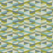 Momentum Archer Fresco aqua lime, slate Geometric Modern Vinyl Upholstery Fabric