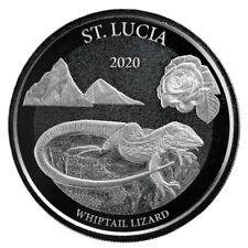 Ste Lucie 2 Dollars Argent 1 Once Lézard 2020