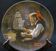 """Norman Rockwell Heritage #4 - """"The Ship Builder"""" - Knowles Collector's Plate"""