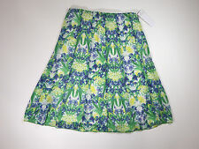 NOTATIONS Womens Green And Blue Floral   Casual  Long Skirt  Size small