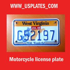 WEST VIRGINIA MOTORCYCLE LICENSE PLATE TAG BIKE HARLEY DAVIDSON CYCLE