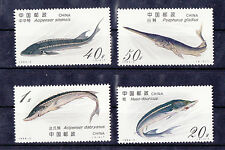 China 1994-3 Sturgeons Fish , Complete 4V mint